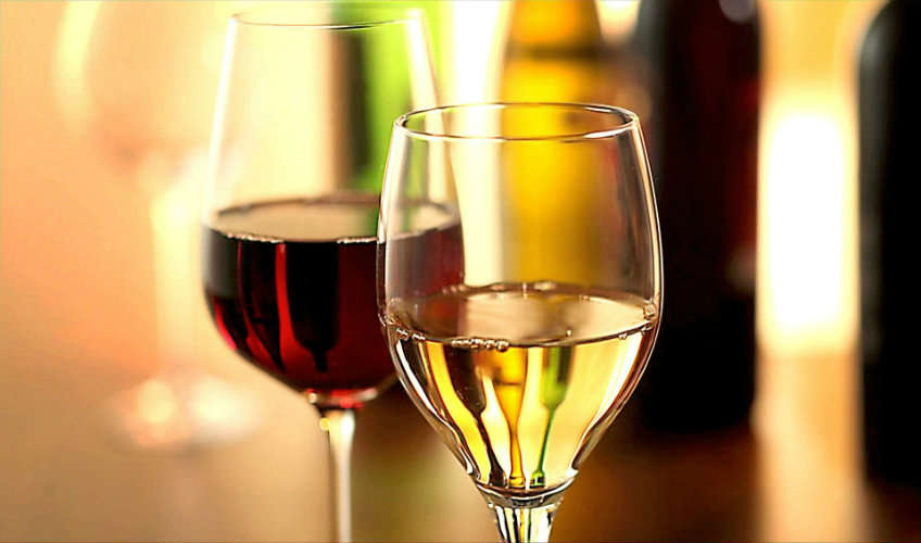 Bottle of red or white wine.