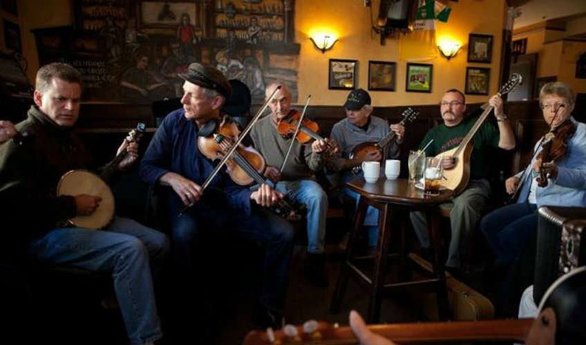 Irish Music Session with host fiddler Roy Johnstone and friends