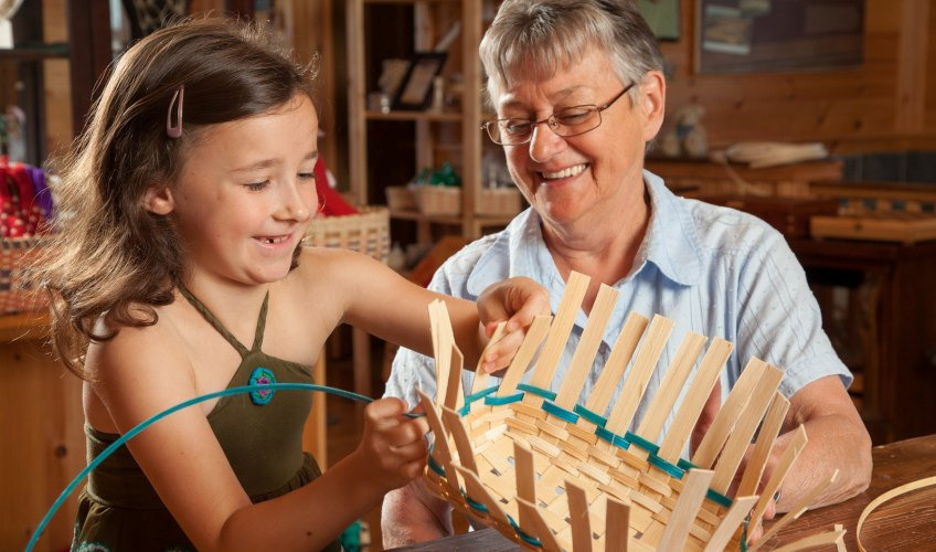 Weaving with Wood