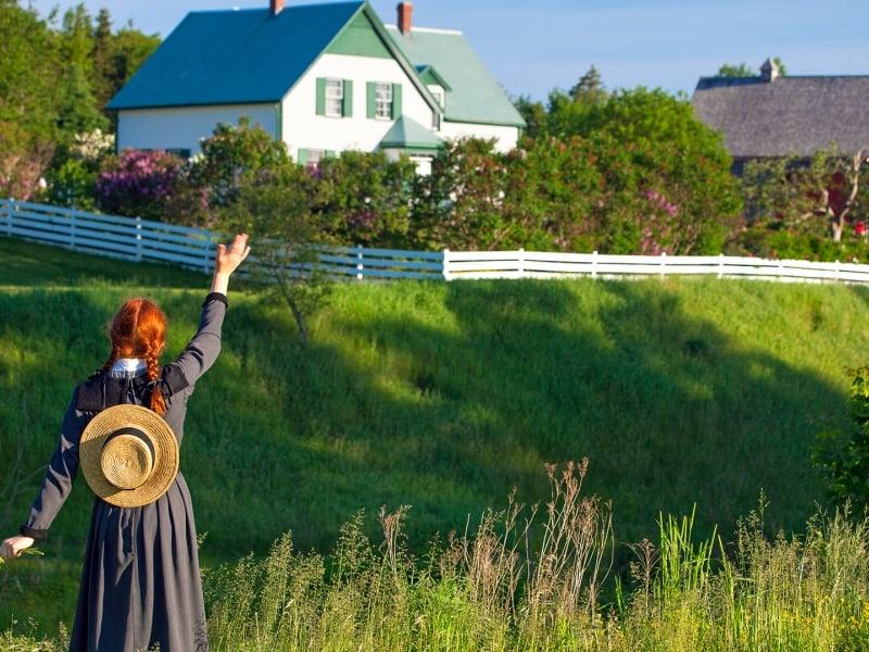 Anne of Green Gables, waving, field