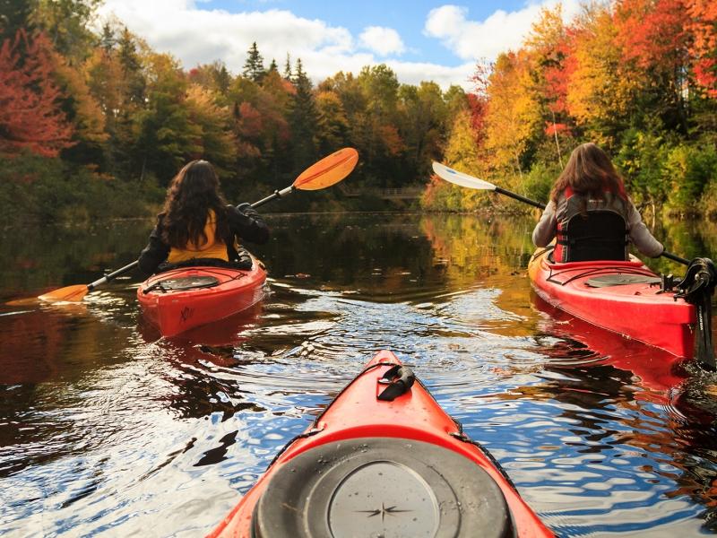 Fall Kayak, river
