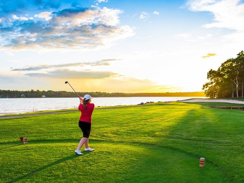 Brudenell Hole, golf, sky, golfer