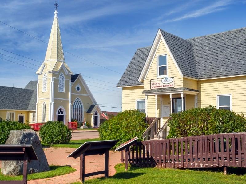 Lennox Island, church, house