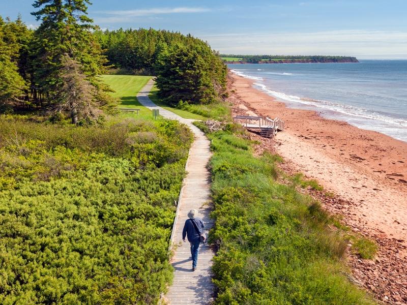 Sally's Beach, provincial park, beach, walking path