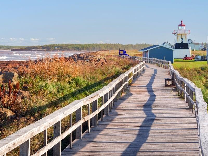 Tignish Shore, boardwalk, lighthouse